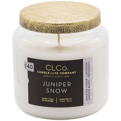 Candle-lite CLCo Candle Jar luxury scented candle 14 oz 396 g - No. 40 Juniper Snow