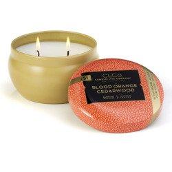 Candle-lite CLCo luxury scented candle 2 wick tin 6.25 oz 177 g - No. 51 Blood Orange Cedarwood