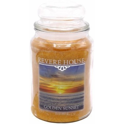 Candle-lite Revere House Large Jar Glass Scented Candle 23 oz 652 g - Golden Sunset