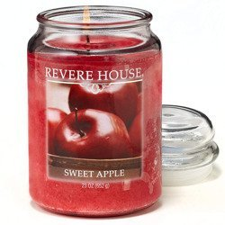 Candle-lite Revere House Large Jar Glass Scented Candle 23 oz 652 g - Sweet Apple