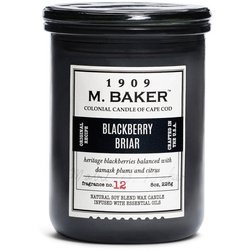 Colonial Candle M. Baker soy scented candle apothecary jar 8 oz 226 g - Blackberry Briar