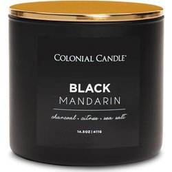 Colonial Candle Pop of Color large soy scented candle 3 wicks 14.5 oz 411 g - Black Mandarin