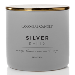 Colonial Candle Pop of Color large soy scented candle 3 wicks 14.5 oz 411 g - Silver Bells