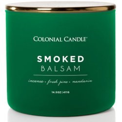 Colonial Candle Pop of Color large soy scented candle 3 wicks 14.5 oz 411 g - Smoked Balsam