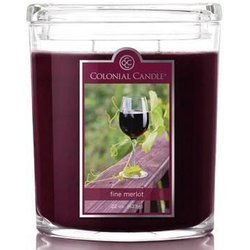 Colonial Candle large scented oval jar candle 22 oz 623 g - Fine Merlot