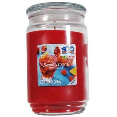 Mainstays WM Scented candle in glass jar 20 oz 566 g - Sweet Sangria