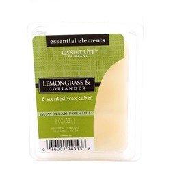 Candle-lite Essential Elements Wax Cubes 2 oz wosk zapachowy sojowy z olejkami eterycznymi 56 g ~ 10 h - Lemongrass & Coriander
