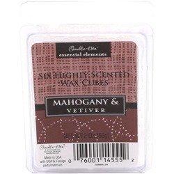 Candle-lite Essential Elements Wax Cubes 2 oz wosk zapachowy sojowy z olejkami eterycznymi 56 g ~ 10 h - Mahogany & Vetiver