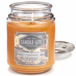 Candle-lite Everyday duża świeca zapachowa w szklanym słoju 145/100 mm 510 g ~ 110 h - Maple Pumpkin Swirl