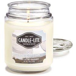 Candle-lite Everyday duża świeca zapachowa w szklanym słoju 145/100 mm 510 g ~ 110 h – Soft White Cotton