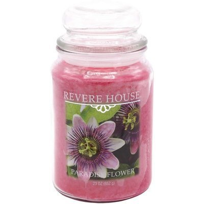 Candle-lite Revere House Jar Glass Candle With Lid 23 oz duża świeca zapachowa w szklanym słoju 185/100 mm 652 g ~ 120 h - Paradise Flower