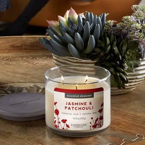 Candle-lite świeca zapachowa sojowa w szkle z olejkami eterycznymi 418 g Essential Elements - Jasmine & Patchouli