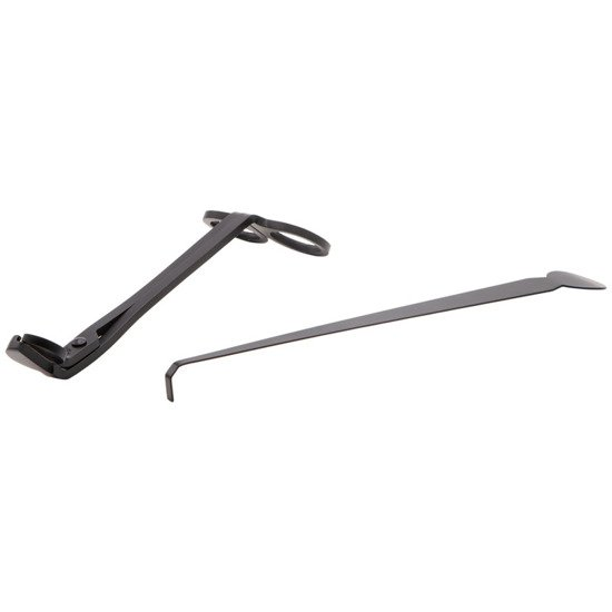 Zestaw Trymer do knotów nożyczki do świec metalowe + wyciągarka do knotów - Czarny