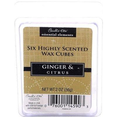 Candle-lite Essential Elements Wax Cubes 2 oz wosk zapachowy sojowy z olejkami eterycznymi 56 g ~ 10 h - Ginger & Citrus