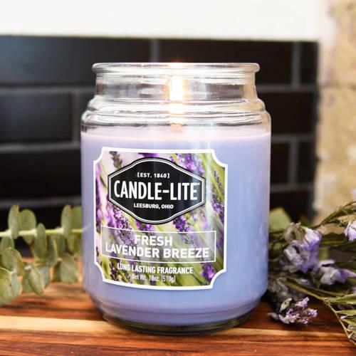 Candle-lite Everyday большая ароматическая свеча в стеклянной банке 18 oz 510 g - Fresh Lavender Breeze