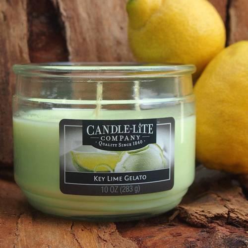 Candle-lite Everyday świeca zapachowa w szkle z trzema knotami 82/105 mm 283 g - Key Lime Gelato