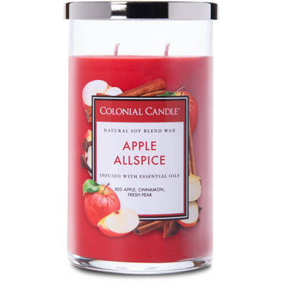 Colonial Candle большая, ароматная соевая свеча в стакане для стакана 18 унций 510 г - Apple Allspice