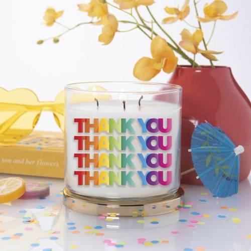 Colonial Candle Inspire sojowa świeca zapachowa w szkle Podziękowanie 3 knoty 14.5 oz 411 g - Thank You