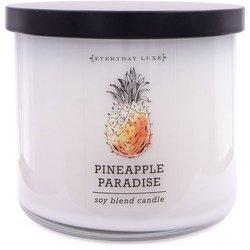 Colonial Candle Luxe sojowa świeca zapachowa w szkle 3 knoty 14.5 oz 411 g - Pineapple Paradise