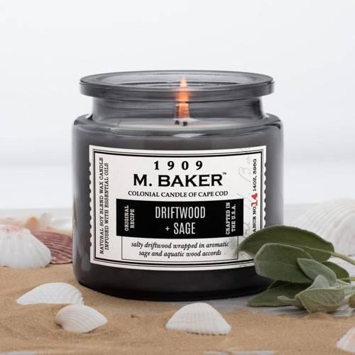 Colonial Candle M. Baker большая ароматическая соевая свеча в банке 14 унций 396 г - Driftwood & Sage