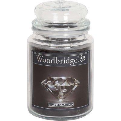 Woodbridge świeca zapachowa w słoju duża 2 knoty 565 g - Black Diamond